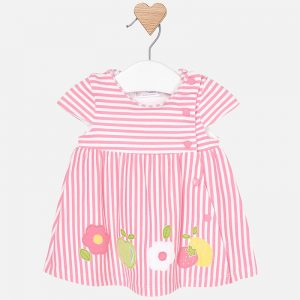 stripe dress with applique
